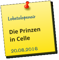 Lobetalopenair  Die Prinzen in Celle 20.08.2016